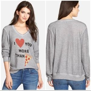 Wildfox I ♡ You More than 🍕 Sweatshirt